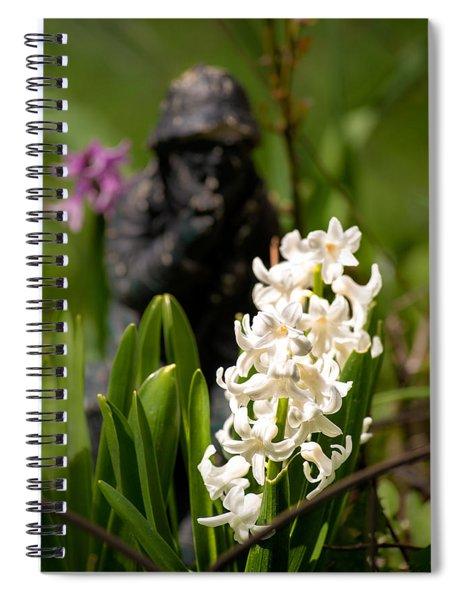 White Hyacinth In The Garden Spiral Notebook
