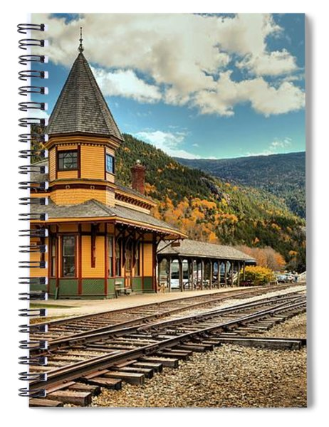 White Mountans Crawford Train Depot Spiral Notebook