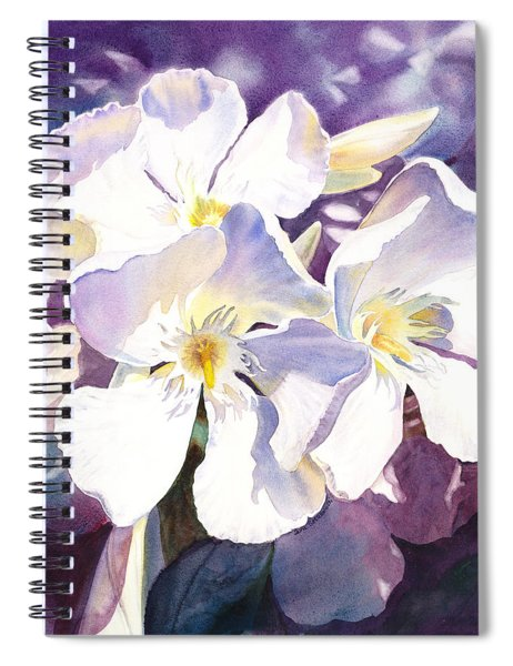 White Oleander Spiral Notebook