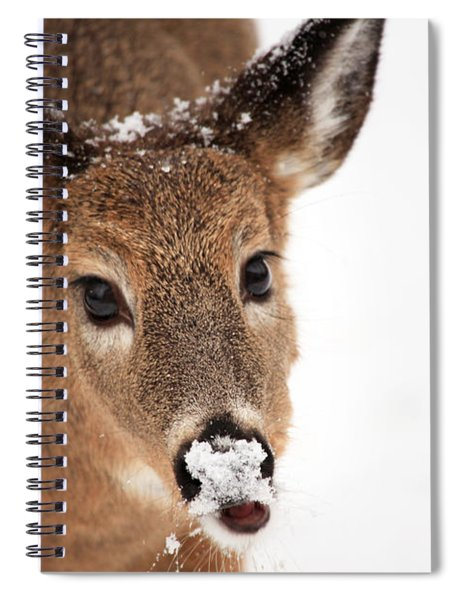 White On The Nose Spiral Notebook