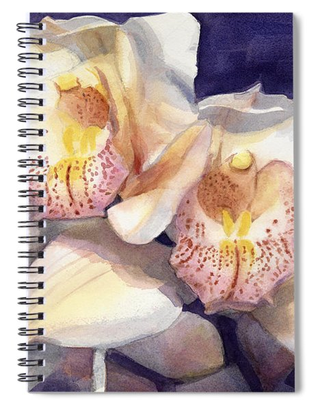 White Orchids Watercolor Spiral Notebook