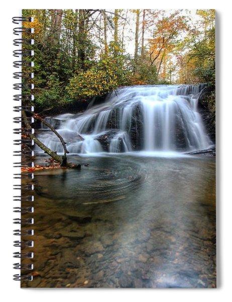White Owl Swirl Spiral Notebook