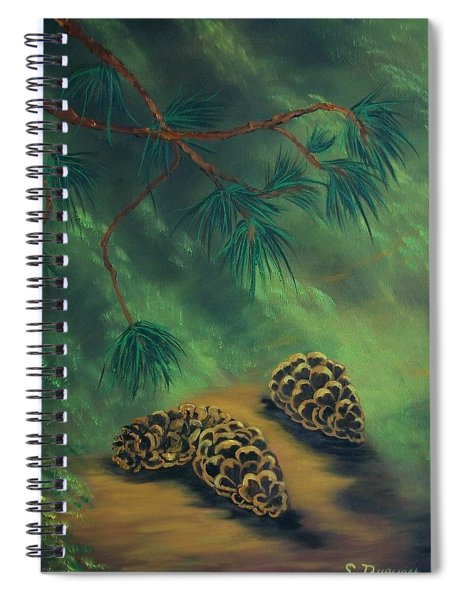 White Pine  And Cones Spiral Notebook