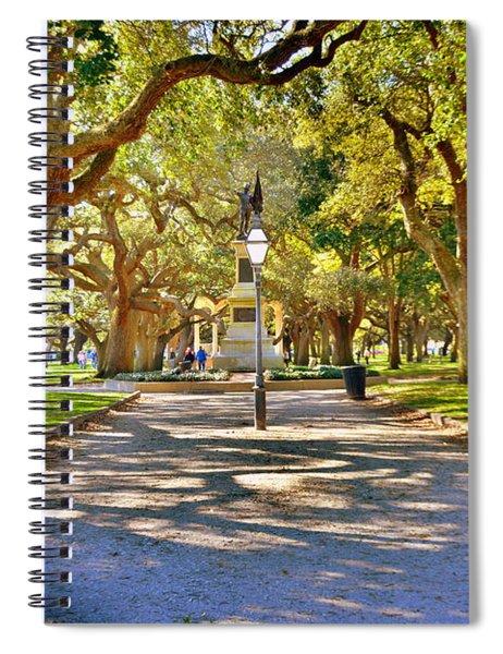White Point Gardens At Battery Park Charleston Sc Hdr Spiral Notebook