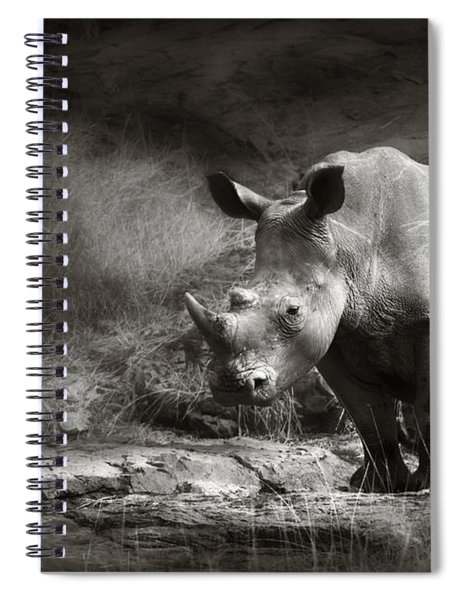 White Rhinoceros Spiral Notebook
