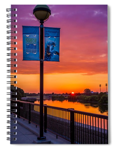 White River Sunset Spiral Notebook