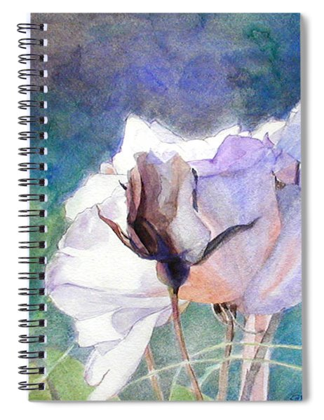 White Roses In The Shade Spiral Notebook