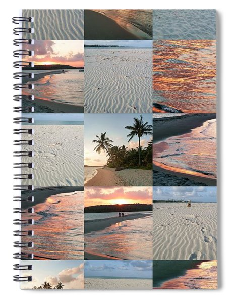 White Sand And Fire Water By Julia Fine Art  Spiral Notebook