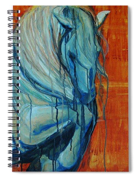 White Stallion Spiral Notebook