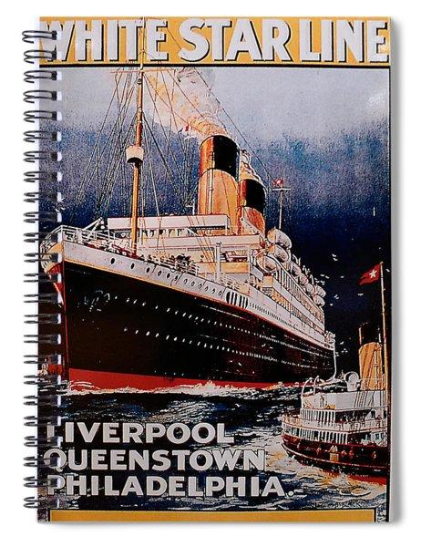 White Star Line Poster 1 Spiral Notebook