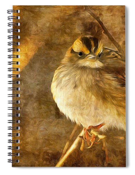 White Throated Sparrow Spiral Notebook