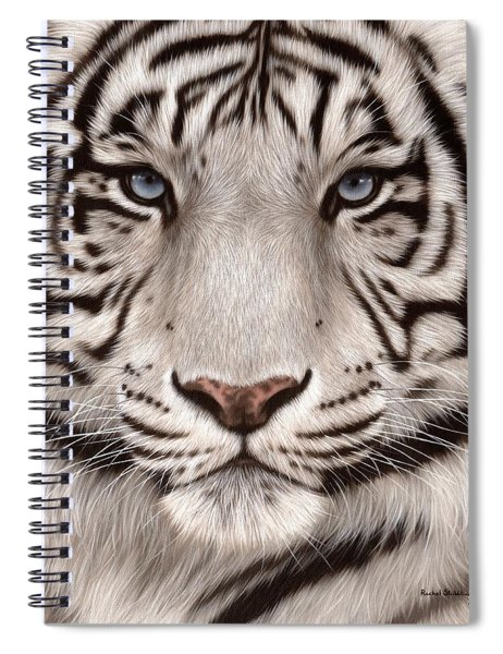 White Tiger Painting Spiral Notebook