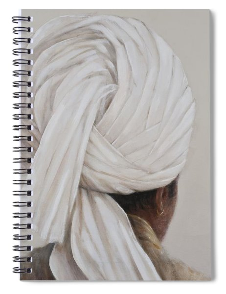 White Turban, 2014 Oil On Canvas Spiral Notebook