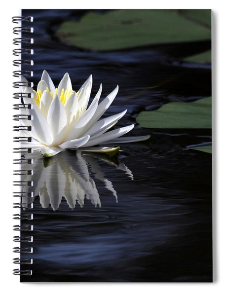 White Water Lily Left Spiral Notebook