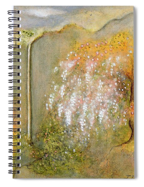 White Whisteria, 2001 Oil On Canvas Spiral Notebook