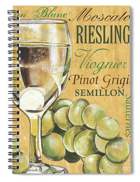 White Wine Text Spiral Notebook
