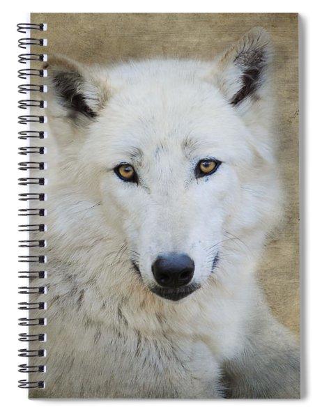 White Wolf Spiral Notebook