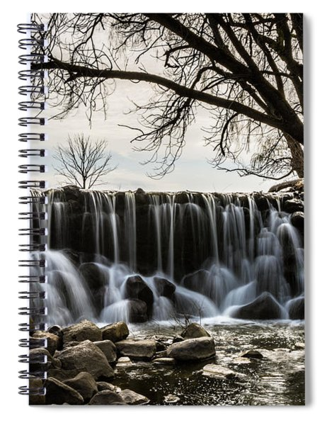 Whitnall Waterfall In Spring Spiral Notebook