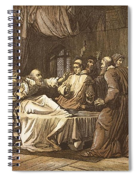 Wicliffe On His Death Bed Assailed Spiral Notebook