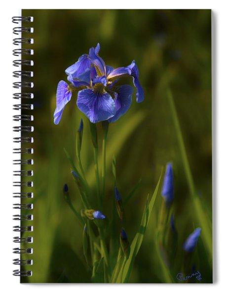 Wild Alaskan Iris Spiral Notebook