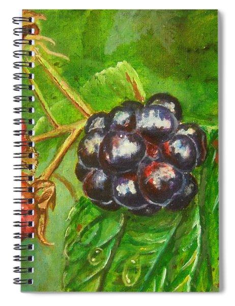 Wild Blackberries Spiral Notebook