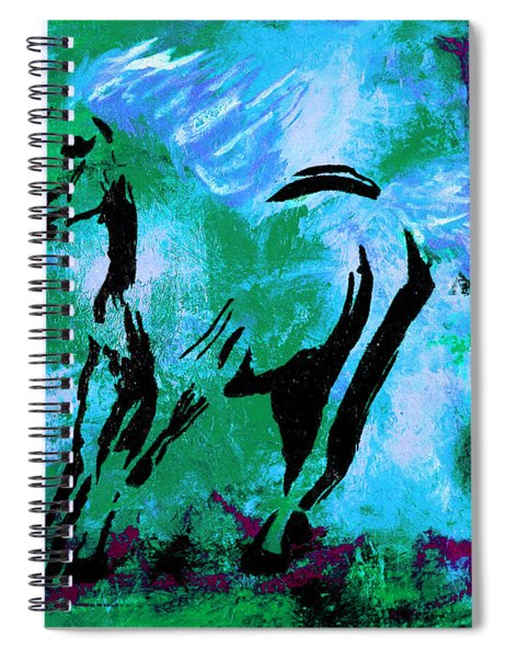 Wild Midnight Spiral Notebook