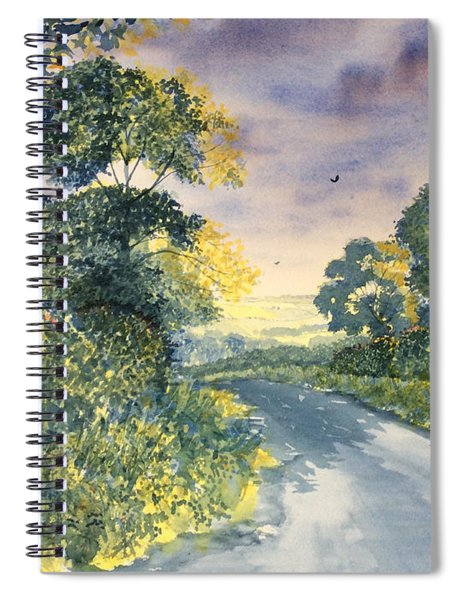 Wild Roses On The Wolds Spiral Notebook