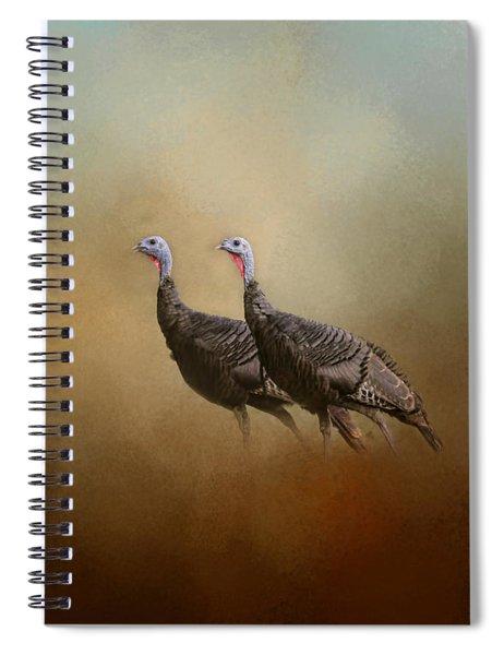 Wild Turkey At Shiloh Spiral Notebook