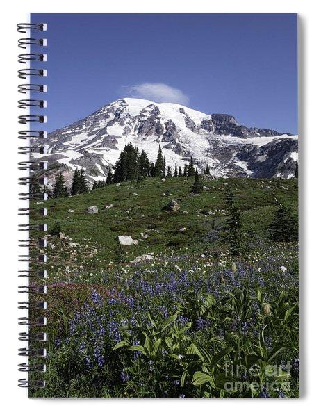 Wildflower Season At Mt Rainier Spiral Notebook