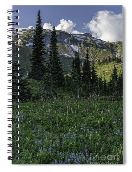 Wildflowers At Rainier Spiral Notebook