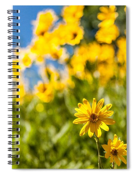 Wildflowers Standing Out Abstract Spiral Notebook
