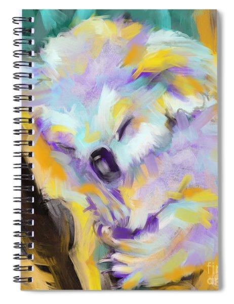 Wildlife Cuddle Koala Spiral Notebook