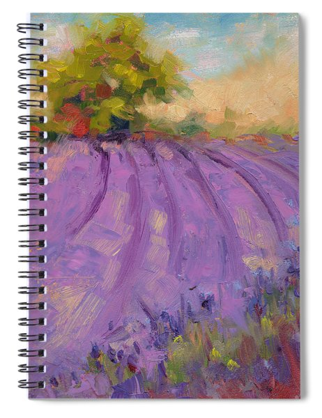Wildrain Lavender Farm Spiral Notebook