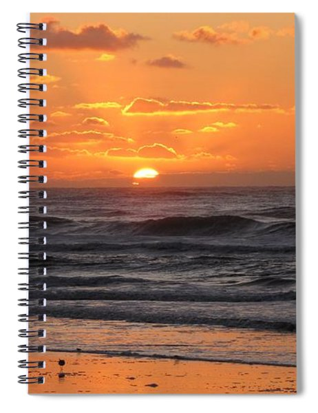 Wildwood Beach Here Comes The Sun Spiral Notebook