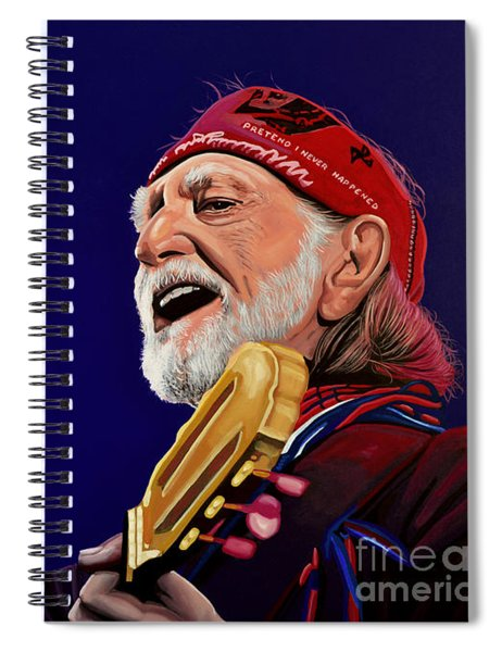 Willie Nelson Spiral Notebook