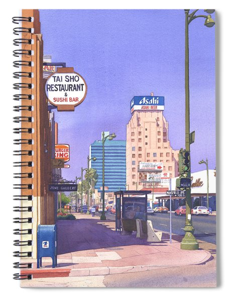 Wilshire Blvd At Mansfield Spiral Notebook