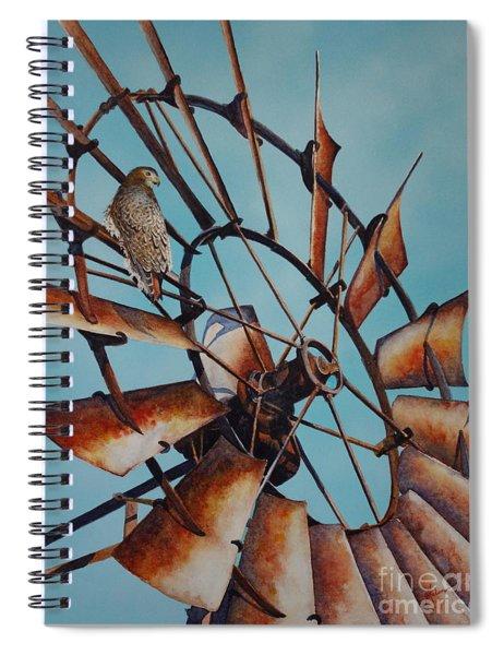 Windmill And Hawk Spiral Notebook