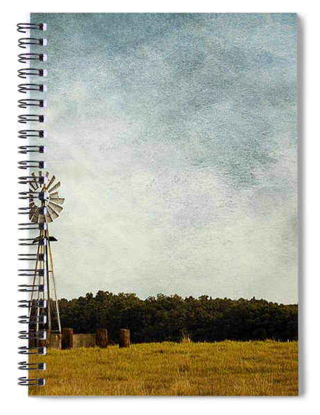 Windmill On The Farm Spiral Notebook