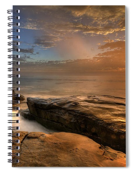 Windnsea Gold Spiral Notebook