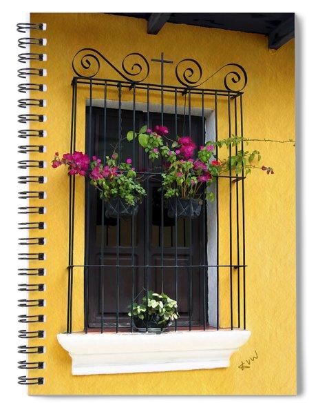 Window At Old Antigua Guatemala Spiral Notebook