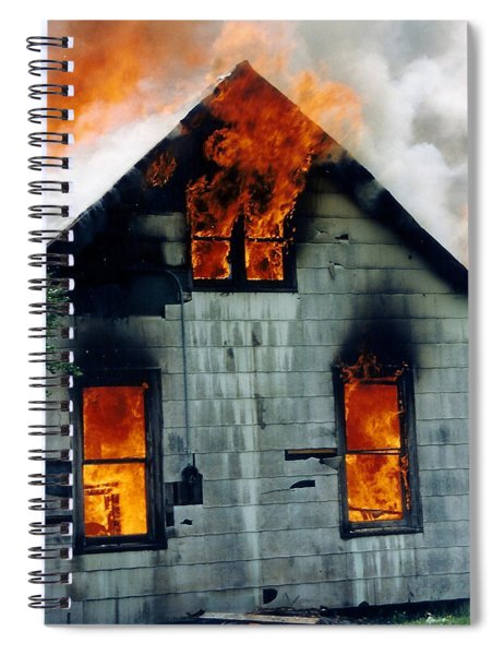 Windows Aflame Spiral Notebook