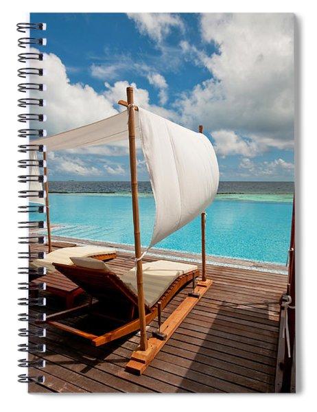 Windy Day At Maldives Spiral Notebook