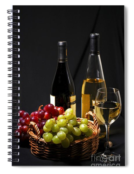 Wine And Grapes Spiral Notebook