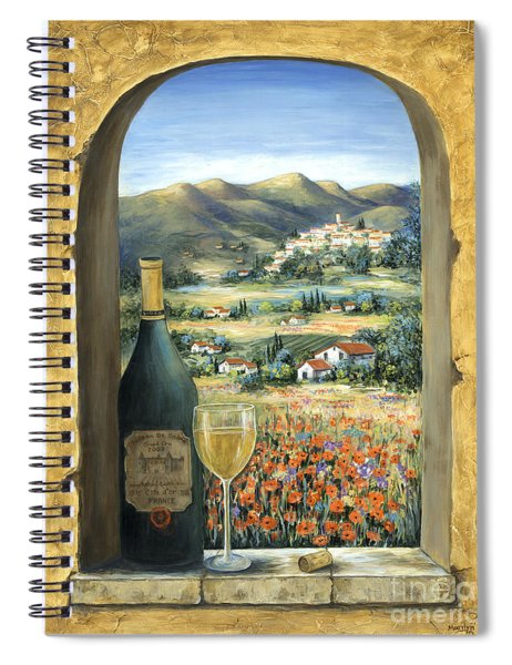 Wine And Poppies Spiral Notebook