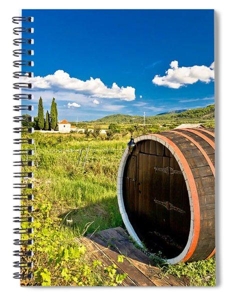 Wine Barrels On Stari Grad Plain Spiral Notebook