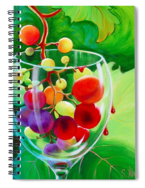 Spiral Notebook featuring the painting Wine On The Vine IIi by Sandi Whetzel