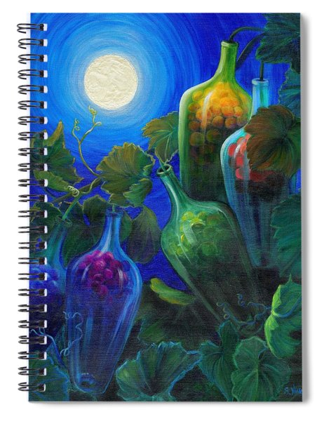 Spiral Notebook featuring the painting Wine On The Vine by Sandi Whetzel