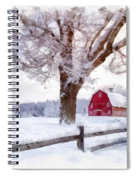 Winter Arrives Watercolor II Spiral Notebook
