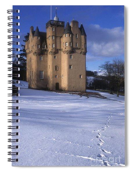 Winter At Craigievar Castle - Aberdeenshire Spiral Notebook