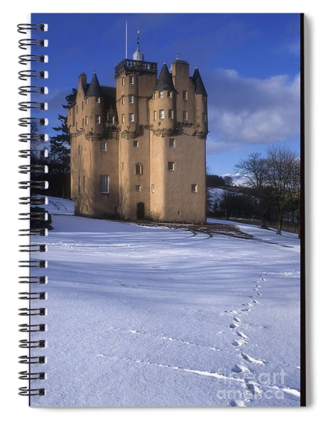Winter At Craigievar Castle - Aberdeenshire Spiral Notebook